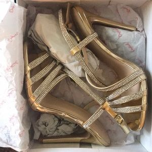 Gold diamond heels